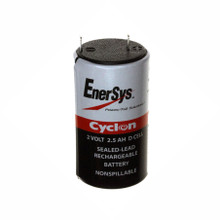 0810-0004 2 Volt 2.5 AH D Cell Battery - Enersys Cyclon Hawker Energy