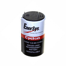 0800-0004 2 Volt 5.0 AH X Cell Battery - Enersys Cyclon Hawker Energy