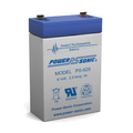 Power-Sonic PS-628 Battery - 6 Volt 2.9 Amp. Hr. Sealed Rechargeable