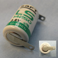 Saft LS14250-STS Battery - 3.6V Lithium 1/2 AA with Solder Tabs