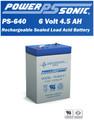 At-Lite 24-1001 Battery - Emergency Lighting - 6 Volt 4.5 Ah