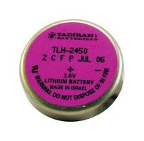 Tadiran TL-2450 - 3.6V Lithium Wafer Cell w-2 Pins