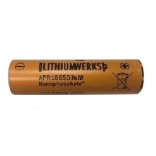 Lithium Werks APR18650M-1B, 3.3 Volt, 1.1Ah LiFePO4 Battery