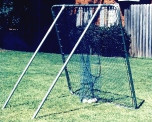 PITCH PRO 6' X 6' combination pitchback/catcher with strikes held by the sock/catcher Net & Frame