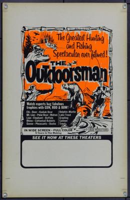 OUTDOORSMAN, THE (0) 21910 Window Card (14x22) Silkscreen.  Very Fine.