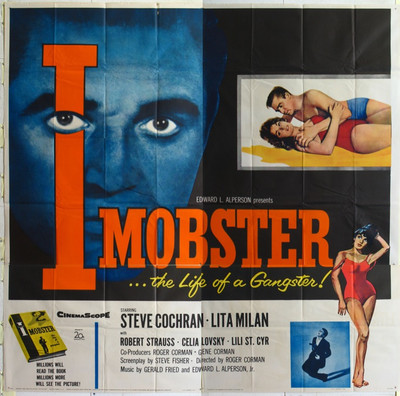 I, MOBSTER (1958) 16753 Original 20th Century-Fox Six Sheet Poster (81x81).  Folded.  Very Good Condition.