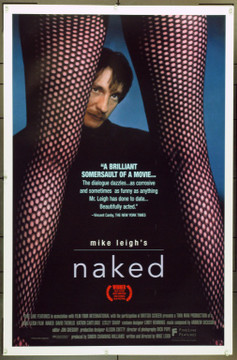 NAKED (1993) &15569 Original Fine Line Features One Sheet Poster (27x41).  Unfolded.  Very Fine.