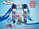 2 Pack 4396841 Genuine!!! Whirlpool Fridge Water Filter