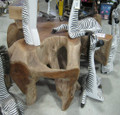 Teak root coffee table.