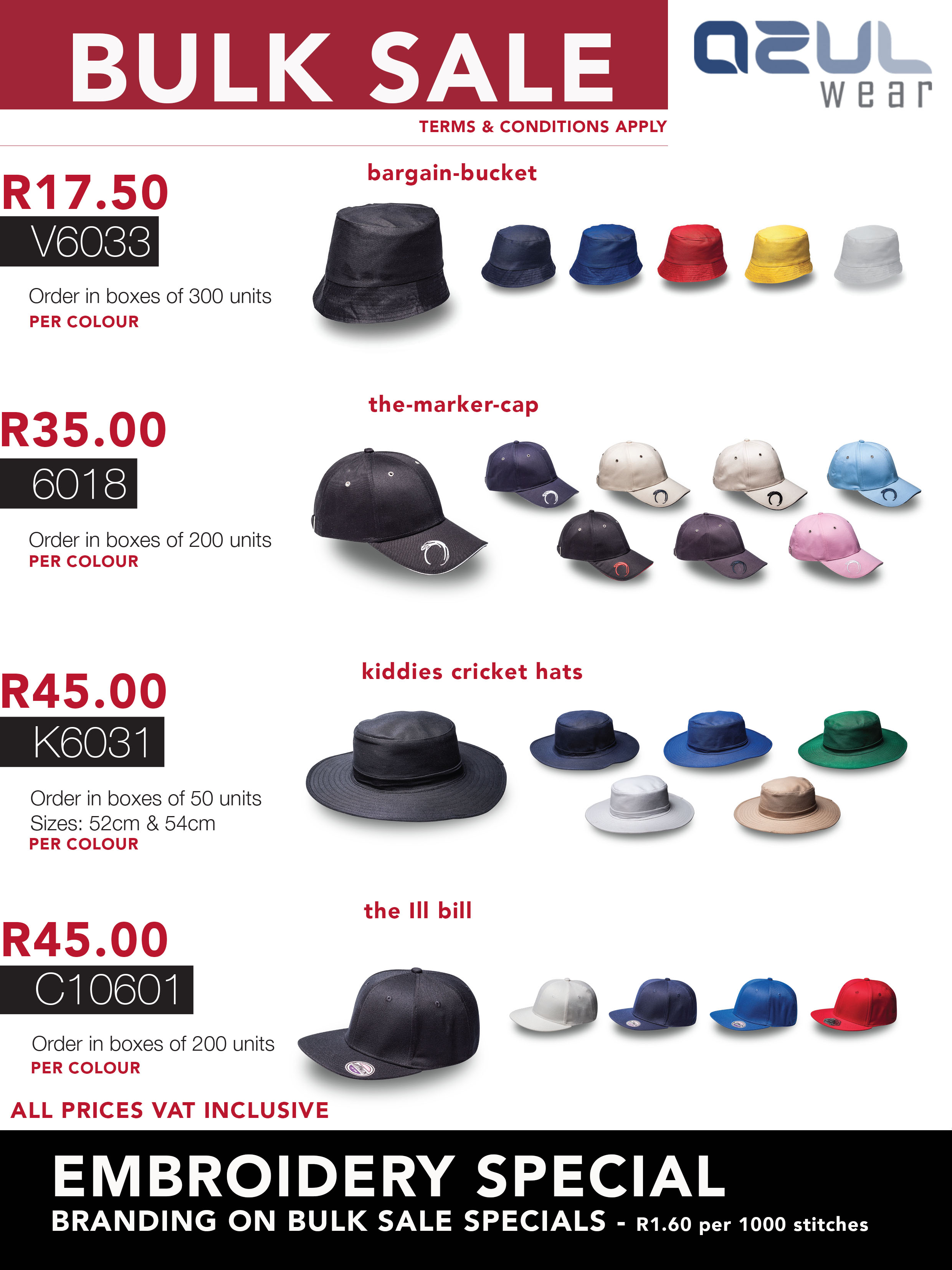 954bd150424 JUNE CAP SPECIALS ON BULK ORDERS - Corporate Clothing I Apparel ...