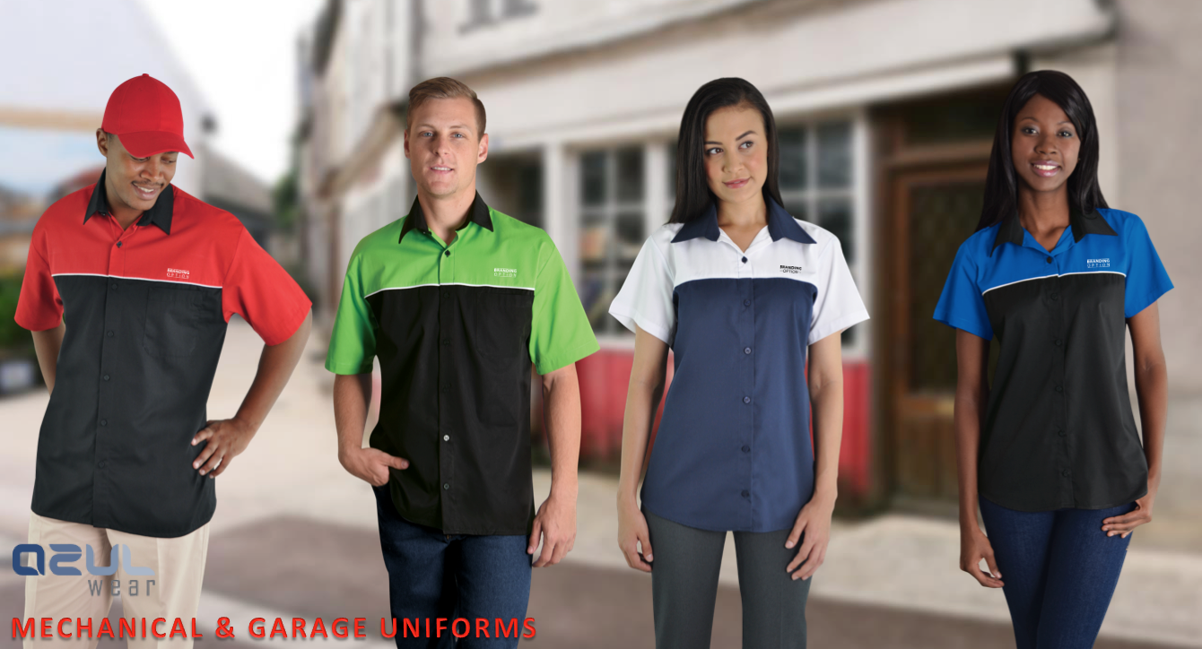 Pit shirts mechanical garage uniforms safety for Spa uniform suppliers cape town