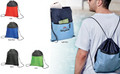 Drawstring Sport Bag with Zip Pocket