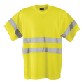 150g Poly Cotton Safety T-Shirt with tape / yellow