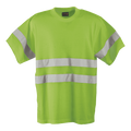 150g Poly Cotton Safety T-Shirt with tape / lime