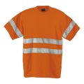 150g Poly Cotton Safety T-Shirt with tape / orange