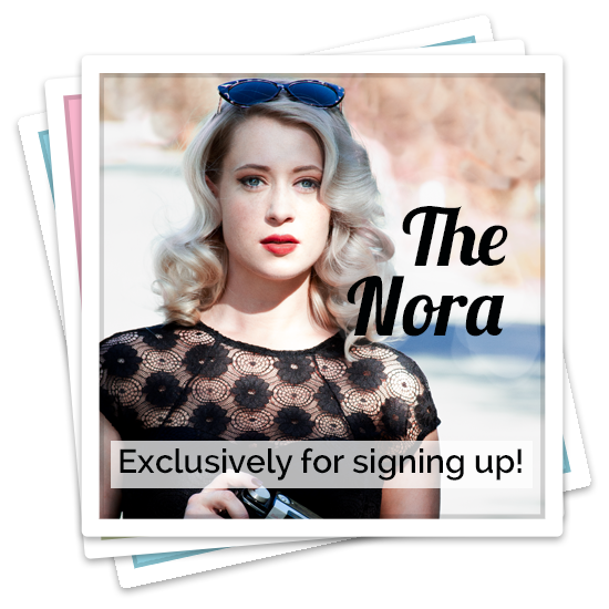 Newsletter Sign-up: The Scarlet (free vintage hair tutorial with newsletter)