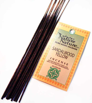 Sandalwood Yellow Resin Nature Nature Incense Sticks