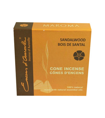 Sandalwood Maroma Incense Cones