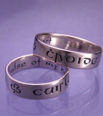 Cuirle Mo Croide Poesy Ring