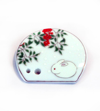 White Rabbit Porcelain Incense Holder