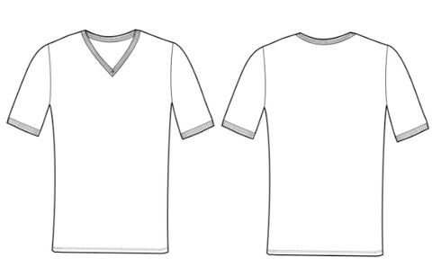 M's Slim SS V NkTee sketch