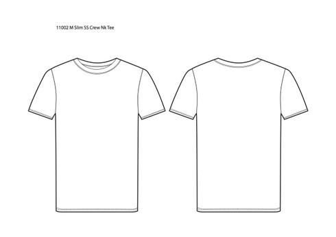 11002 Men's Slim Fit Short Sleeve Crew Neck Tee sketch