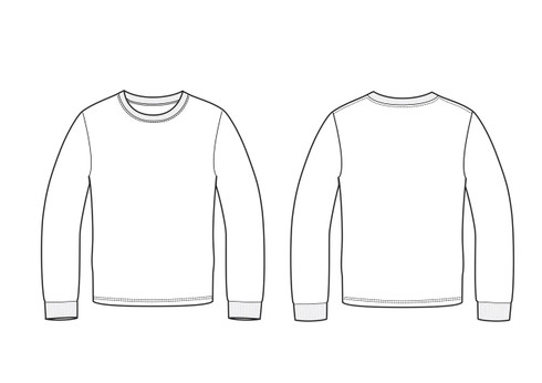 11005 Men's Regular Fit LS Crew Neck T sketch