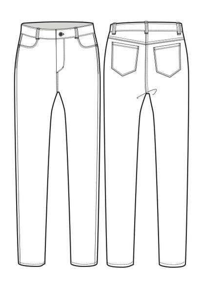 Womens High Waisted Jean sketch