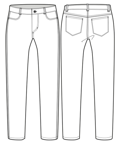 22001 W's Regular Straight Fit Jean sketch