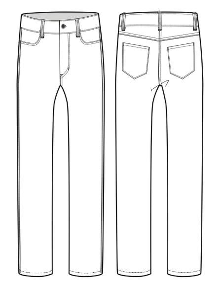 12002 Men's Slim Fit Jean sketch