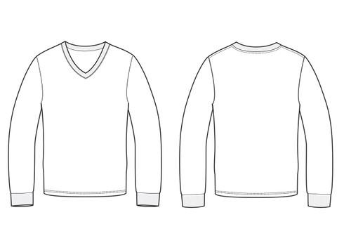 11007 Men's Regular Fit Long Sleeve Tee sketch