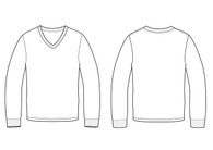 11007 Men's Regular Fit Long Sleeve Tee sketch