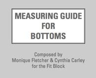 Measuring Guide for Bottoms