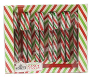 Large Christmas Peppermint Candy Canes - Gift Box of 12