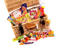 Deluxe Retro Sweets Wicker Hamper