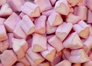 Pink & White Heart Marshmallows - 1kg (Approx 500)