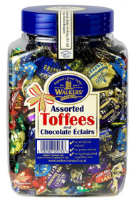 Walkers Nonsuch Assorted Toffees & Chocolate Eclairs Gift Jar 1.25kg