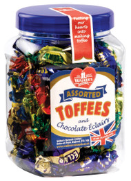Walkers Nonsuch Assorted Toffees & Chocolate Eclairs Mini Gift Jar 450g