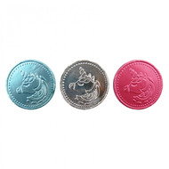 Unicorn Chocolate Coins - 1kg (Approx 140 coins)