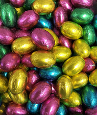 Deluxe Solid Milk Chocolate Foiled Easter Eggs 1kg (apx 90)