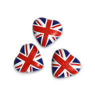 Union Jack Foiled Milk Chocolate Caramel Flavoured Love Hearts - 1kg