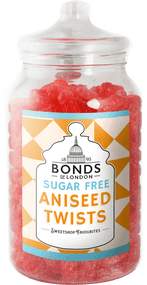 Bonds Sugar Free - Aniseed Twists - 2kg Jar