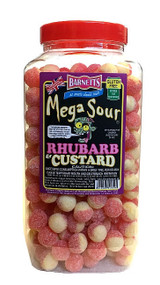 Barnetts Mega Sours - Rhubarb & Custard - 3kg Jar