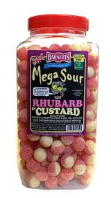 Barnetts Mega Sours - Rhubarb & Custard - 3kg Jar