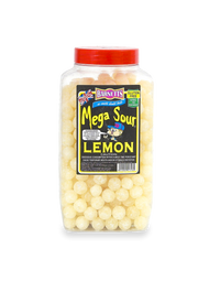 Barnetts Mega Sours - Sour Lemon - 3kg Jar