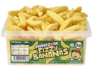 Sweetzone Tub - 5p Fizzy Bananas (120)