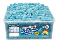 Sweetzone Tub - 1p Fizzy Blue Raspberry Bottles (600)