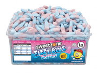 Sweetzone Tub - 1p Fizzy Blue Bubblegum Bottles (600)
