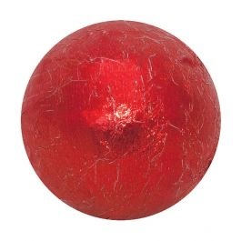 Milk Chocolate Foil Balls - Red