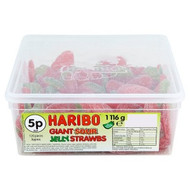 Haribo Tubs - Sour Giant Strawberries